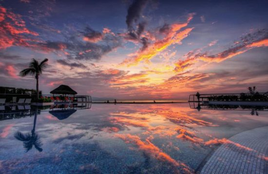 Infinity Pool Sunset